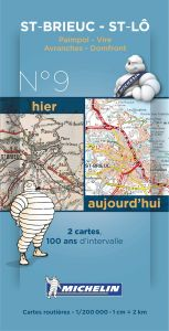 Michelin Historical Map - St-Brieuc (Pre WW1 & Today)