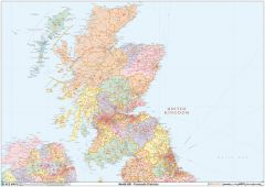 Scotland Postcode District Wall Map (D10) Map
