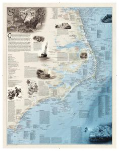 Shipwrecks of the Outer Banks Map