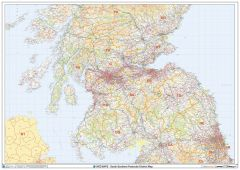 South Scotland Postcode District Wall Map (D5) Map