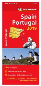 Michelin National Map - 734-Spain & Portugal