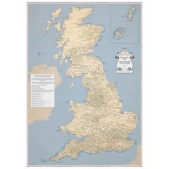 ST&G's Marvellous Map Of Great British Place Names - Old School (A2)