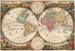 Stoopendaal Map of the World in two Hemispheres (1730) Map
