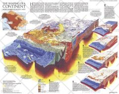 The Shaping of a Continent - Published 1985 Map