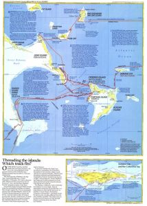 Threading the Islands  -  Published 1986 Map