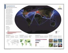 Transportation: People and Goods on the Move - Atlas of the World, 10th Edition Map