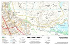 UK Detailed Topographic - Fixed Scale Map