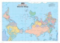 Upside Down World Wall Map