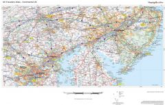 US Travelers Atlas - Continental US Map
