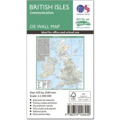 OS Wall Map - British Isles Communications Map