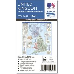 OS Wall Map - Administrative Boundaries Map Of The UK