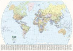 World Wall Map - English and French Map