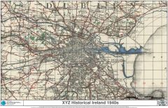 XYZ Historical Ireland 1940s Map