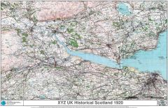 XYZ UK Historical Scotland 1920 Map