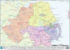 XYZ UK Strategic Health Authorities and Health Boards Map