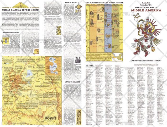 Archeological   of Middle America Theme - Published 1968 Map
