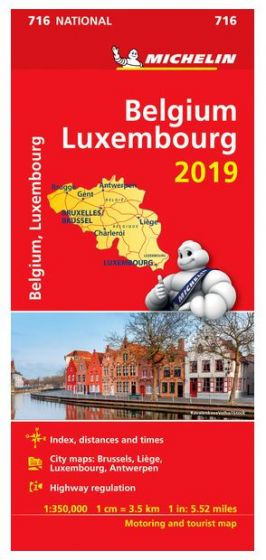 Michelin National Map - 716-Belgium & Luxembourg
