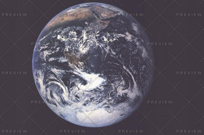 Earth From Space - Published 1973 Map