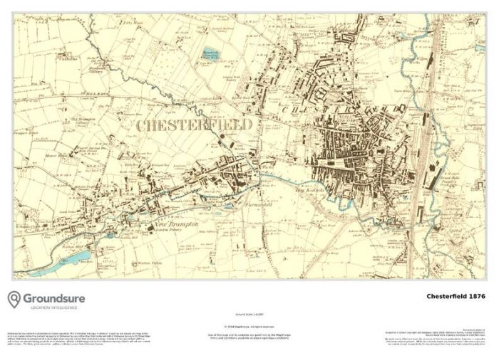 Chesterfield 1876 Map