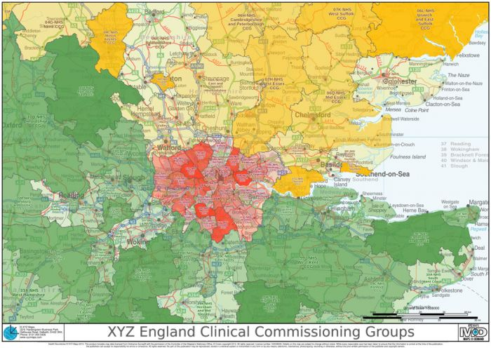 XYZ England Clinical Commissioning Groups Map