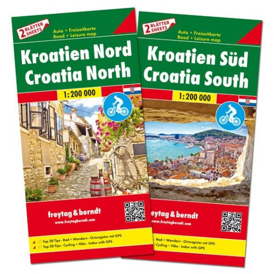 Freytag & Berndt Map - Croatia North And South