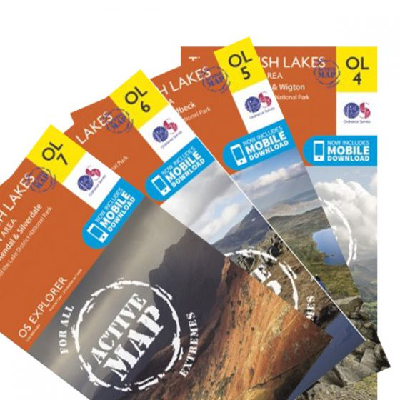 OS Explorer Active Map Set - The Lake District