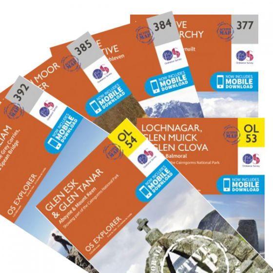 OS Explorer Active Map Set - West Highland Way