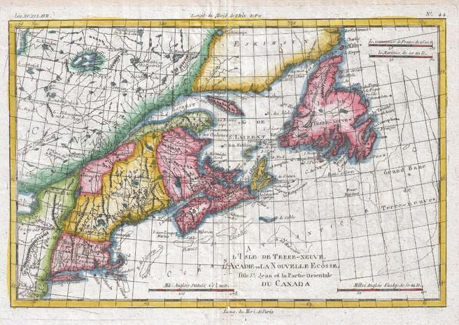Map of New England and the Canadian Maritime Provinces (1780) Map