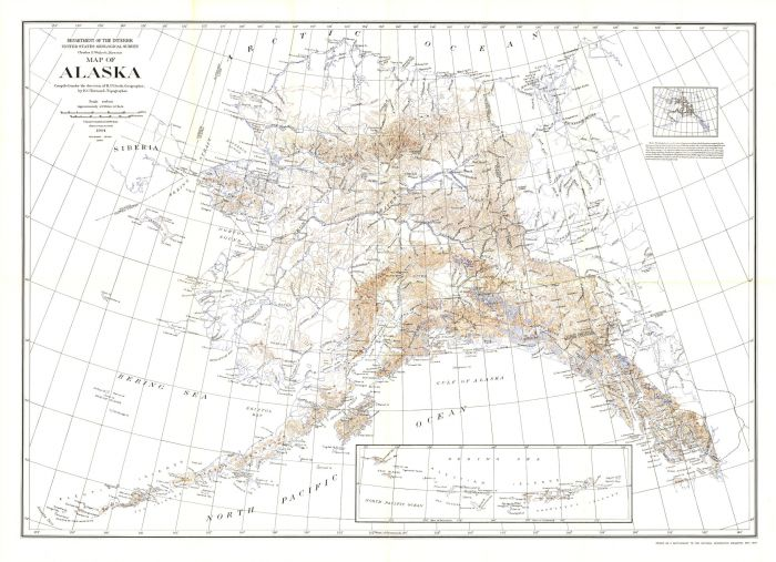 Alaska - Published 1904 Map