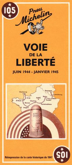 Michelin Historical Map - Road to Liberty (1944 - 1945)