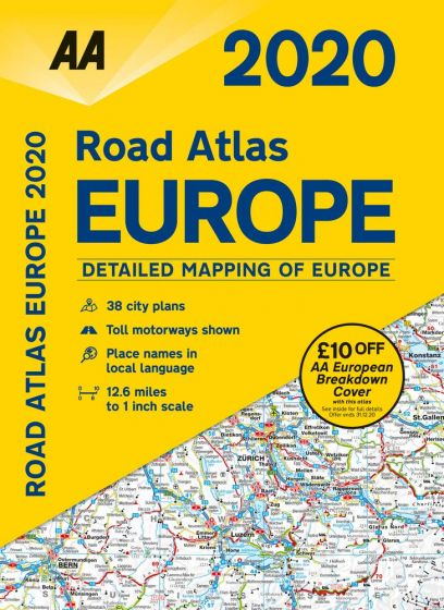 AA - Road Atlas - Europe