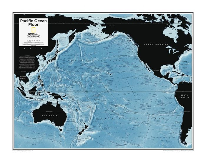 Pacific Ocean Floor - Atlas of the World