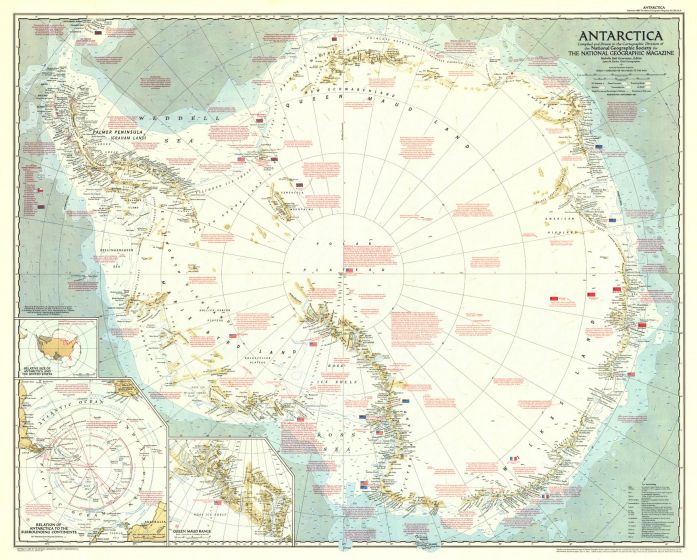 Antarctica  -  Published 1957 Map