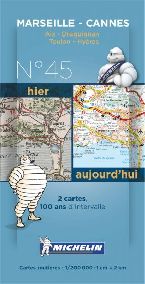 Michelin Historical Map - Marseille/Cannes (Pre WW1 & Today)