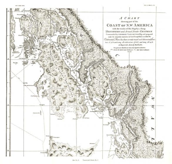 A Chart showing part of the Coast of NW America Side 1 - Published 1899 Map