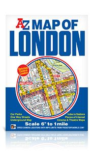 """A-Z Map Of London 6"""" To 1 Mile"""