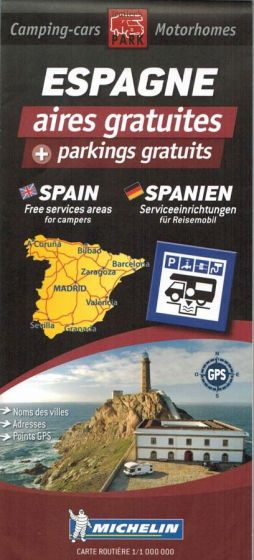 Michelin Motorhome Park Map - Spain (Espagne)