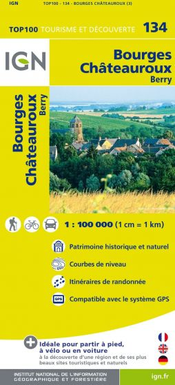 IGN Top 100 - Bourges / Chateauroux - Berry