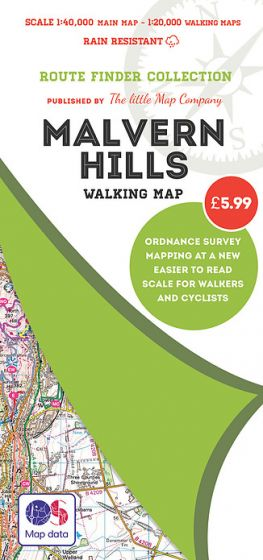The Little Map Company - Route Finder - Malvern Hills