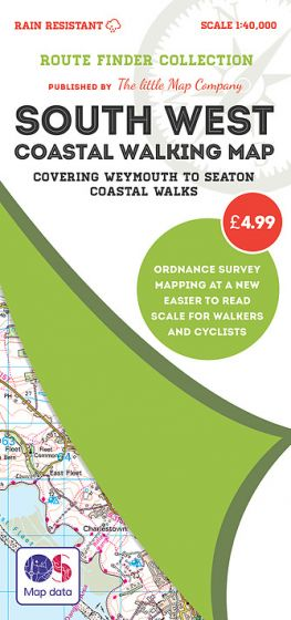 The Little Map Company - Route Finder - Weymouth To Seaton