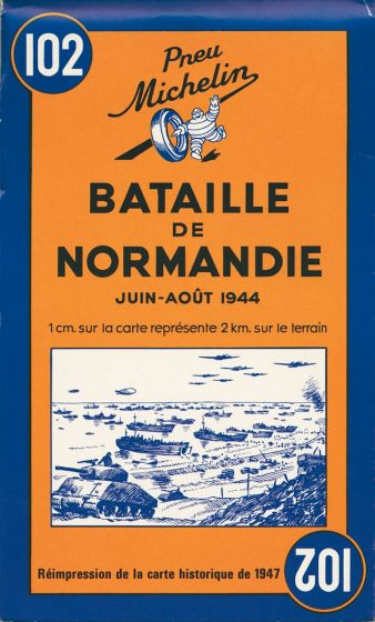 Michelin Historical Map - Battle Of Normandy (1944)