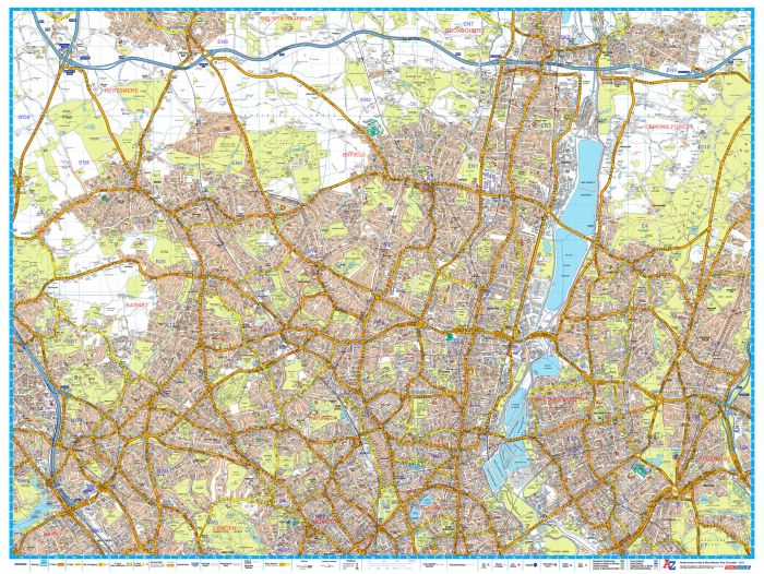 A-Z London Master Plan - North Map