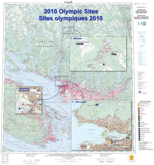 2010 Olympic sites / Sites olympiques 2010 Map
