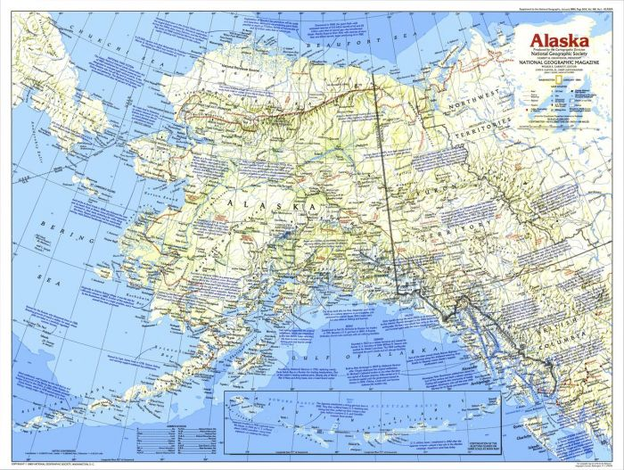 Alaska  -  Published 1984 Map