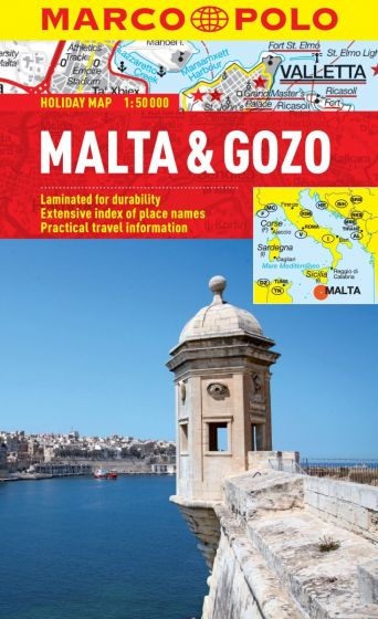 Malta & Gozo Marco Polo Holiday Map