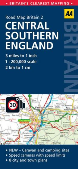 AA - Road Map Britain - Central Southern England
