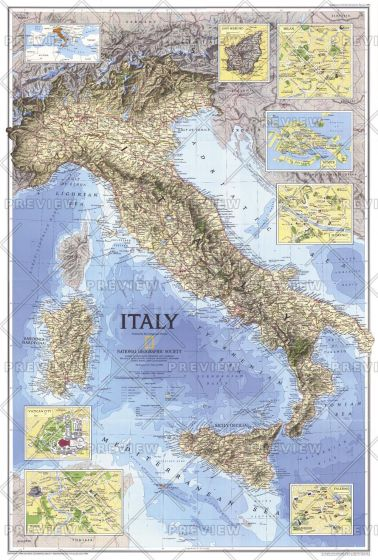 Italy  -  Published 1995 Map