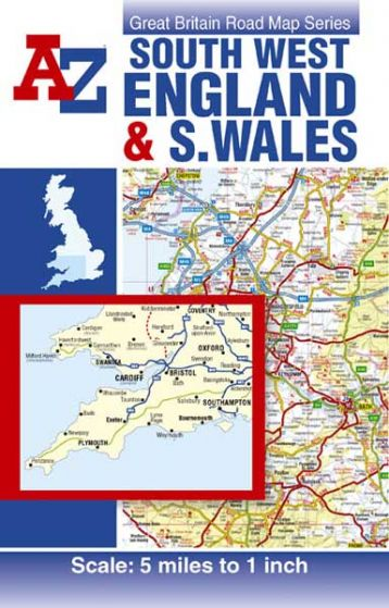 A-Z Road Map - South West England & South Wales