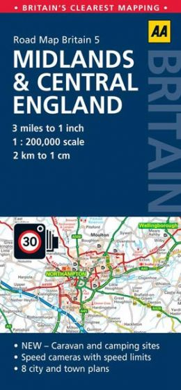 AA - Road Map Britain - Midlands & Central England