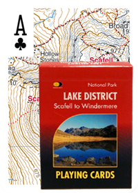 Harvey Map Playing Cards - Lake Dist. Scafell & Windermere